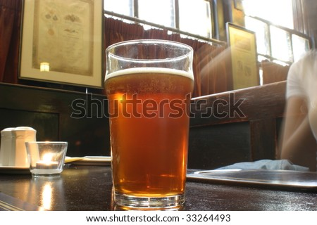 Beer and life in an english pub