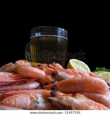 Beer and shrimps