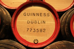 Beer barrel in Guinness's Storehouse