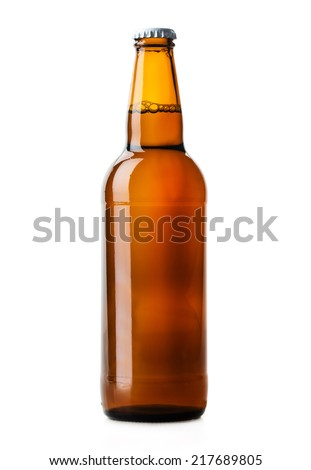 beer bottle brown isolated on white background #217689805