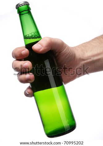 beer bottle green - stock photo