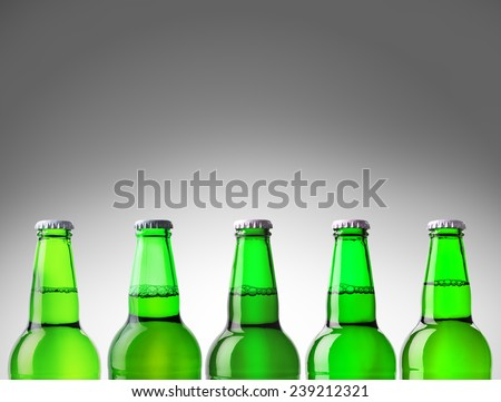 beer bottle green isolated on white background