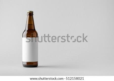 Beer Bottle Mock-Up - Blank Label #512158021