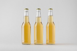 Beer Bottle Mock-Up - Three Bottles