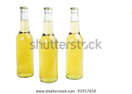 beer bottles, isolated on white background