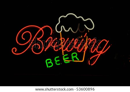 Beer Brewing Neon Light Sign with Frosty Mug