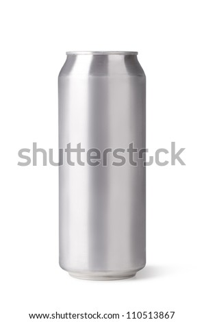 beer can isolated on a white background