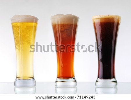 Beer collection - Three glasses of beer