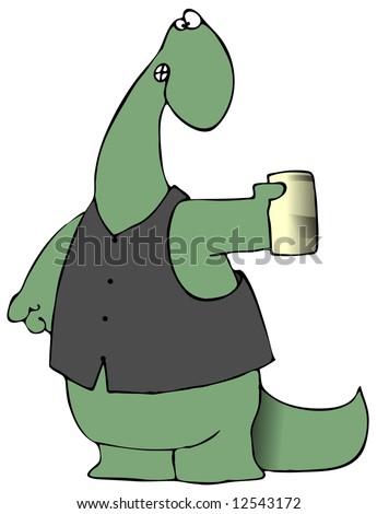 Beer Drinking Dinosaur