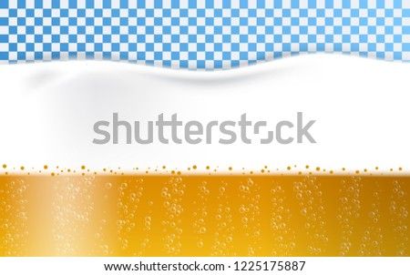 Beer foam bubbles concept background. Realistic illustration of beer foam bubbles concept background for web design