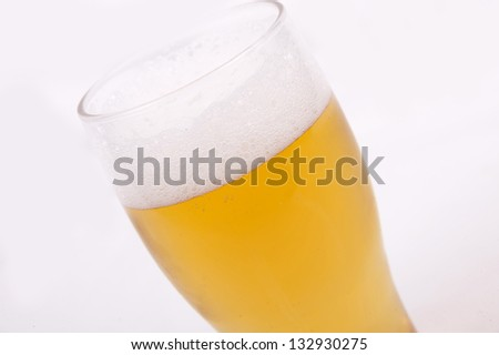 Beer Glass  isolated on a  white background
