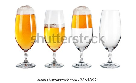 beer glasses concept