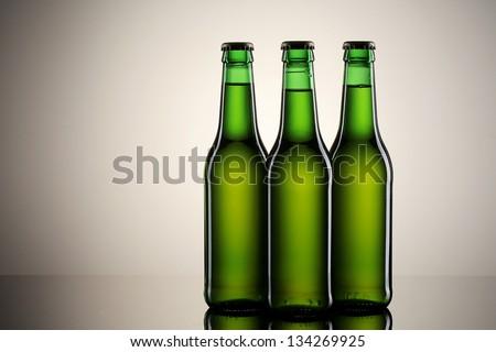 Beer. Green bottles of beer
