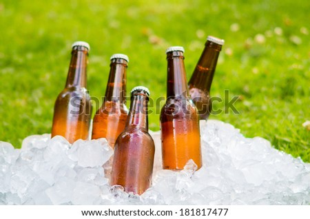 beer ice outside