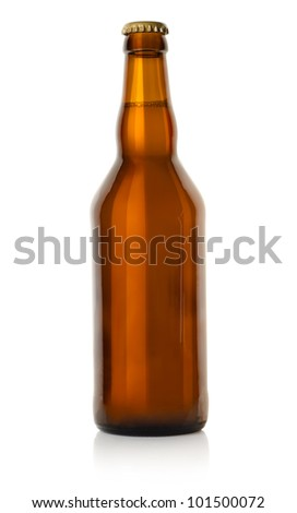 Beer in a brown bottle