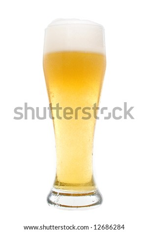 Beer in a pilsner glass