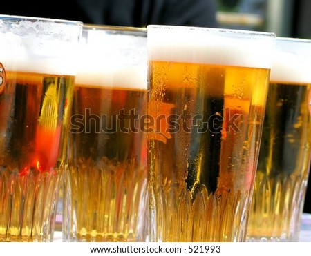 Beer in glasses