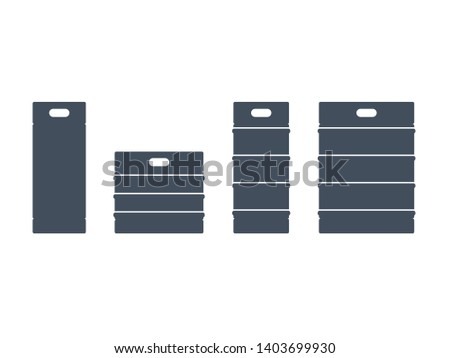 Beer keg set. Brewery clip art isolated on white background