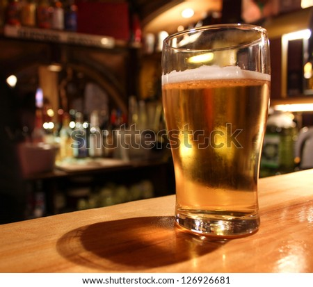 beer mug in a bar