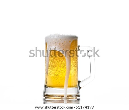 Beer mug isolated on white