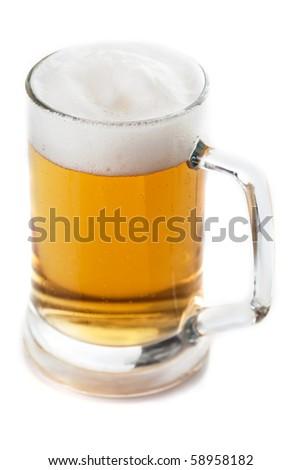 beer mug isolated on white background
