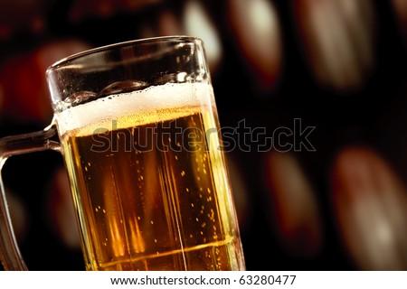 beer mug on vintage background