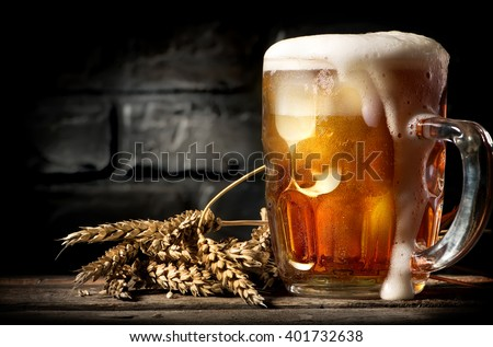 Shutterstock Beer near brick wall