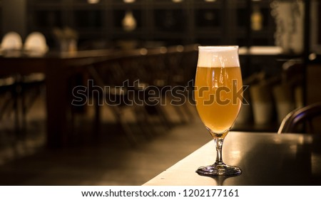 Beer, New England India Pale Ale (NEIPA) Served in tulip glass
