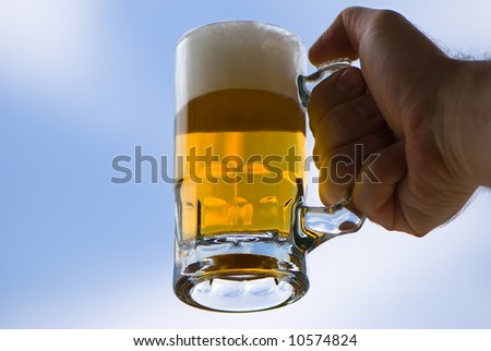 Beer - pleasure and mood Foto stock ©