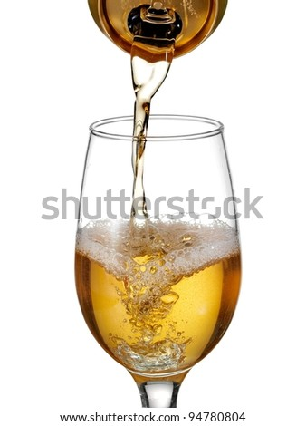 Beer pouring into a glass - stock photo