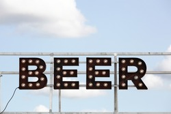 Beer sign and inscription