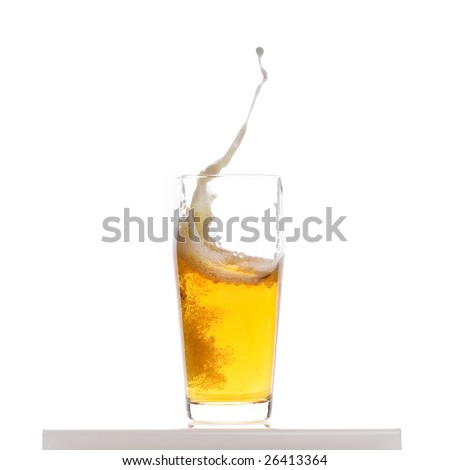 Beer splash - stock photo