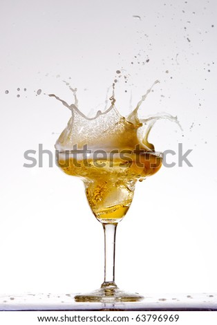 Beer splashes