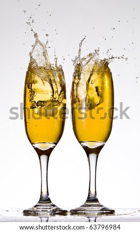 Beer splashes - stock photo