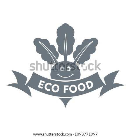 Beet logo. Simple illustration of beet logo for web