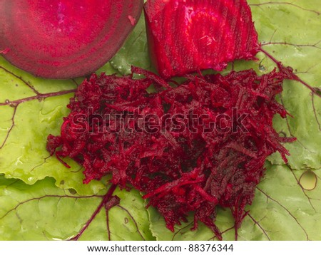beet root on the leaf