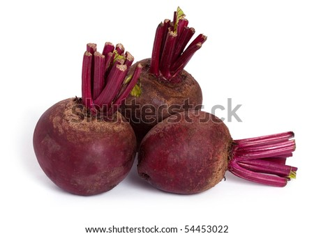 beet roots isolated on a white background