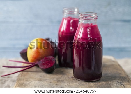 Beetroot and apple juice