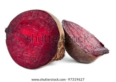 beets isolated on white background