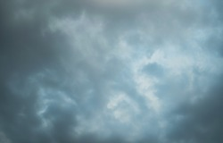 Before raining clouds.Dark cloud.Gray storm cloud.