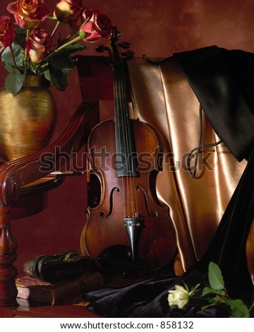 Before the Concert Violin Still Life