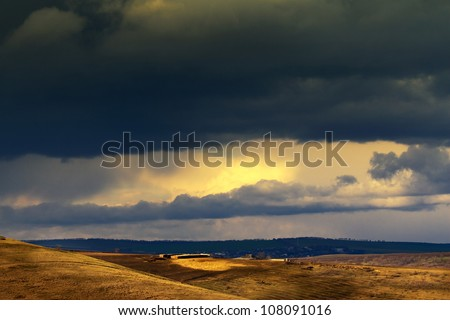 Before the storm - stock photo