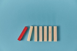 Beginning of end. Start of falling domino blocks, copy space. Financial difficulties. Total collapse. Domino effect