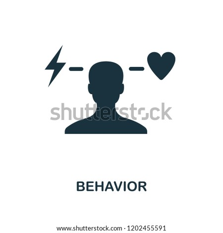 Behavior icon. Monochrome style design from business ethics collection. UX and UI. Pixel perfect behavior icon. For web design, apps, software, printing usage.