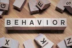 Behavior Word In Wooden Cube