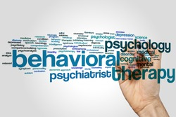 Behavioral therapy concept word cloud background