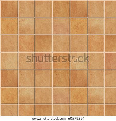 Beige and brown floor tiles