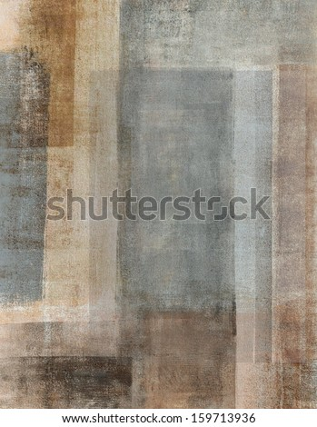 Beige and Grey Abstract Art Painting