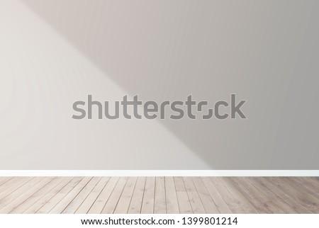 Beige blank concrete wall mockup