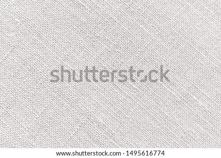 Beige canvas fabric for background, light linen texture background